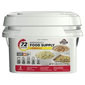 Augason Farms 72-Hour 1-Person Emergency Food Supply Kit 4 lbs 1 oz 10