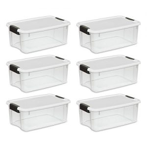 Clear Plastic Storage Bins with Lids 12