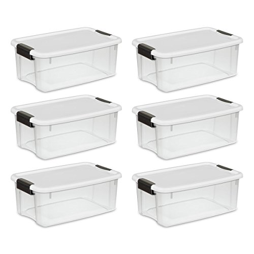 Clear Plastic Storage Bins with Lids 7