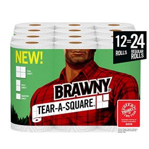 Brawny Tear-A-Square Paper Towels 20