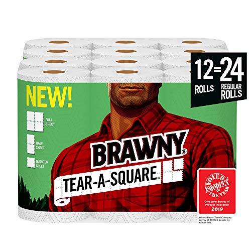 Brawny Tear-A-Square Paper Towels 1