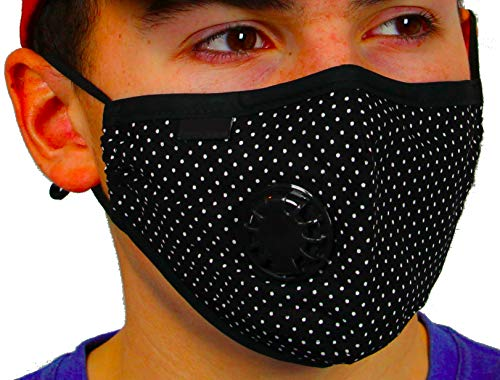 eThentic Mask N99 PM 2.5 Protection Black Dots Print (Adult)