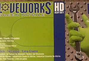 Gloveworks Industrial Green Nitrile Gloves 9