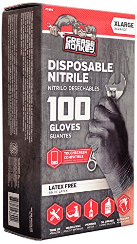 Grease Monkey Disposable Nitrile All Purpose Gloves - Pack of 100 (Non Latex)
