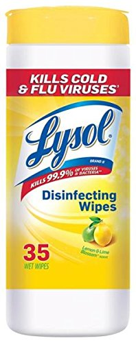 Lysol Disinfecting Wipes, Lemon and Lime Blossom, 35 Count (Pack of 3),Packaging May Vary