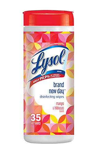 Lysol Disinfecting Wipes, Mango & Hibiscus, 35Count