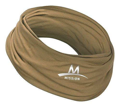 Mission Multi-Cool 12 in 1 Multifunctional Gaiter and Headwear Sand/Tan