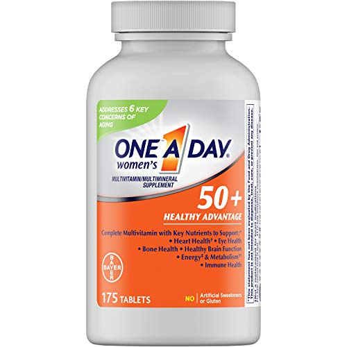 One A Day Women's 50+ Healthy Advantage Multivitamin Multimineral Supplement Tablets, 175 Count