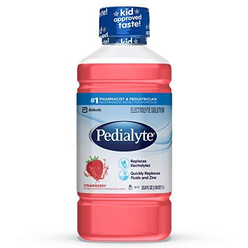 Pedialyte Electrolyte Solution, Hydration Drink,1 Liter, Strawberry