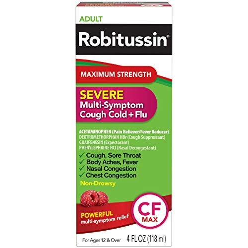 Robitussin Severe CF Maximum Strength Cough, Cold, & Flu Medicine (4 fl. oz. Bottle)
