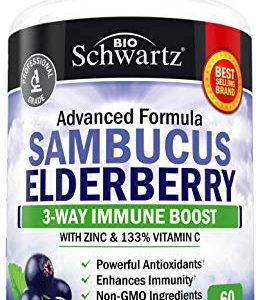 Sambucus Elderberry Capsules with Zinc & Vitamin C 19