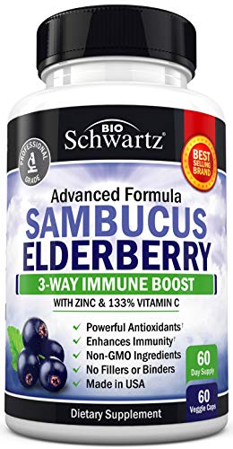 Sambucus Elderberry Capsules with Zinc & Vitamin C 1