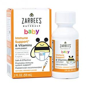 Zarbee's Naturals Baby Multivitamin with Iron 18