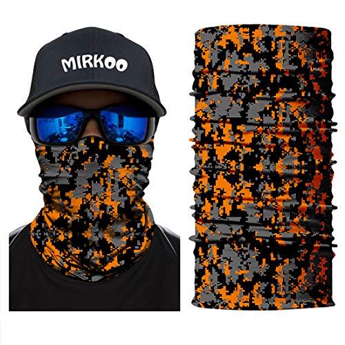 3D Camouflage Face Mask (OCAMO-349) - ORANG BLACK