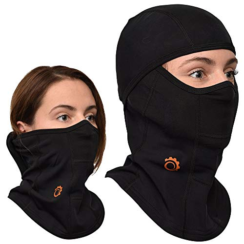Balaclava by GearTOP | Best Full Face Mask | Premium Ski Mask - Neck Warmer for Motorcycle and Cycling, Black