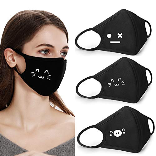 Coolha Cotton Dustproof Mouth Face Mask - Pattern Name: W2