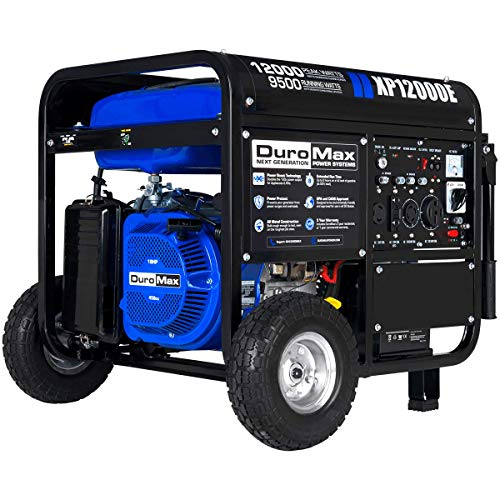 DuroMax XP12000E Gas Powered Portable Generator-12000 Watt-Electric Start- Home Back Up & RV Ready 50 State Approved