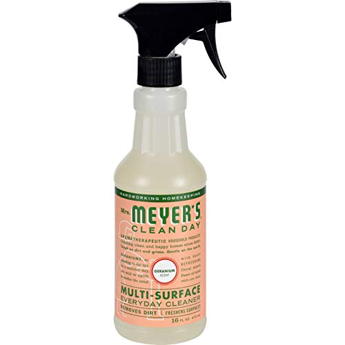 Mrs Meyer's Clean Day Multi Surface Everyday Cleaner,Geranium,16 fl oz (473 ml) (13441)