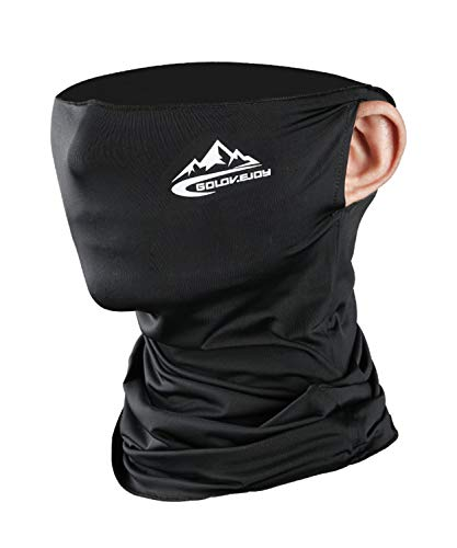 Neck Gaiter Face Mask Shield - Black