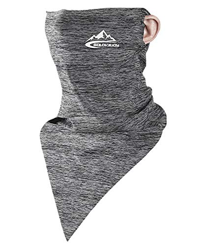 Neck Gaiter Face Mask Shield - Light Grey - Long