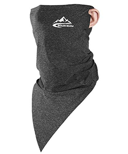 Neck Gaiter Face Mask Shield Scarf - Dark Grey - Long