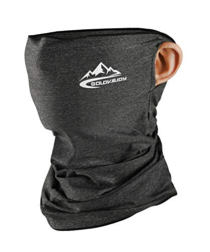 Neck Gaiter Face Mask Shield Scarf - Dark Grey