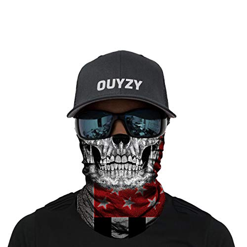 OUYZY Face Scarf Cover Mask - Sun Dust Bandanas for Fishing Motorcycling Running