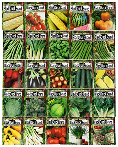 Premium Herbs and Vegetables Seeds - 25 Pack