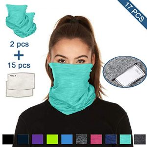 Scarf Bandanas Neck Gaiter with Safety Carbon Filters 14