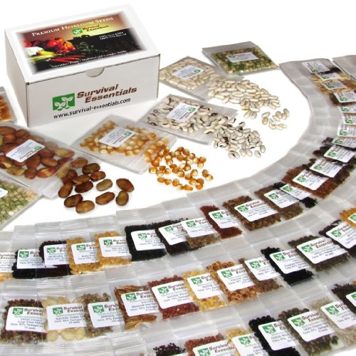 Survival Essentials Premium Heirloom Seed Bank 12