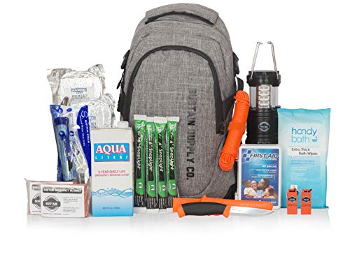 Sustain Supply Co. 9-08395 Essential 2-Person Emergency Survival Bag/Kit – Be Equipped for 72 Hours of Disaster Preparedness with Premium Basic Supplies for 2 People