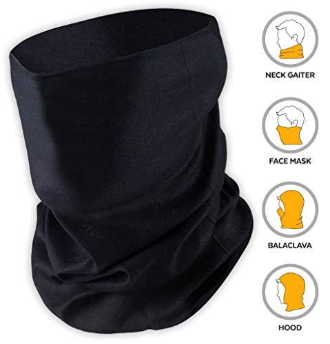 Neck Gaiter Face Mask - Reusable, Washable & Breathable Cloth Cover, Shield, Scarf & Bandana for Dust, UV & Sun Protection