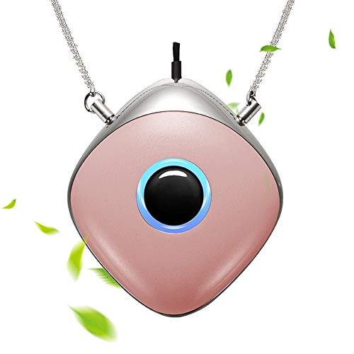 WOOLALA Wearable Air Purifier Necklace Personal Air Cleaner Around Neck Negative Ion Generator for Travel Office 28Hours Long Battery Life …