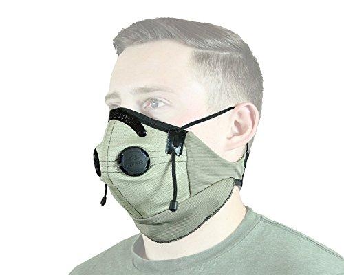 "ATV TEK, Pro Series Rider Filtered Dust Mask - Tan/Black, 18"""