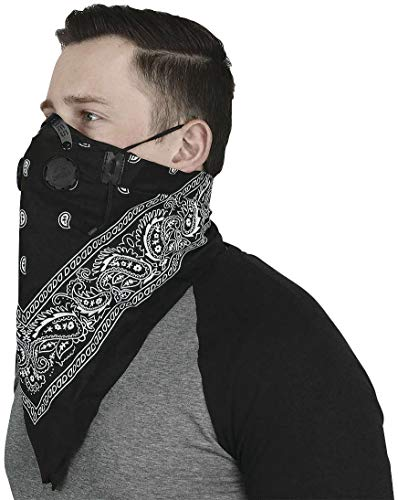 Atv/Utv Tek Pro Bandana Dust Mask Blk Bdmblk New