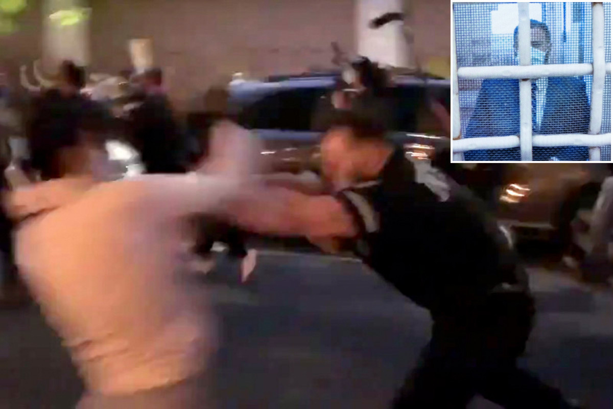 NYPD cop charged with shoving female protester freed without bail 1