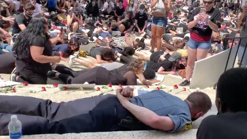 Webster police chief responds to backlash for lying down in solidarity with protesters 1
