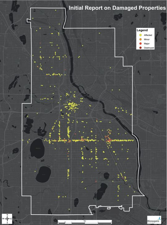 MAP: See the Destruction the George Floyd Riots Wreaked All Over Minneapolis 1