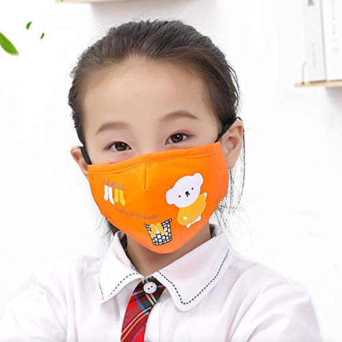 Cartoon bears cotton dustproof for children Red