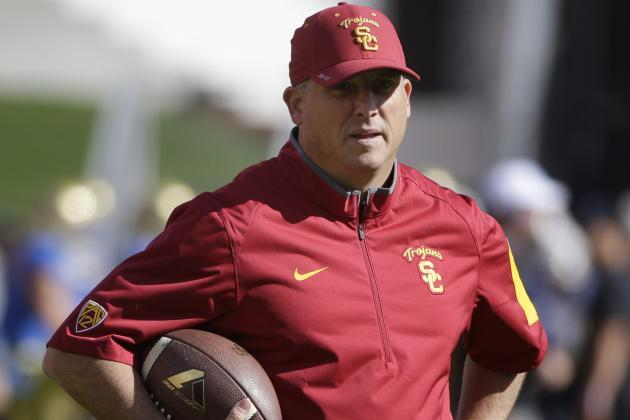 """USC coach Clay Helton on peaceful protests: """"My job is to encourage them to share their voice"""" (or take a knee) 1"""