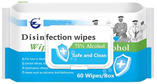 Cleaning Wipes, Hand Wet Refreshing Wipes(1 Pack, 60 Counts), All-Purpose Clean Wipe for Adults Family, Travel, Bathroom, Kitchen, Skin Cleaning Care