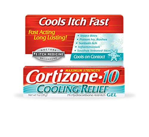 Cortizone-10 Cooling Relief Anti-Itch Gel 1 oz (Pack of 2)