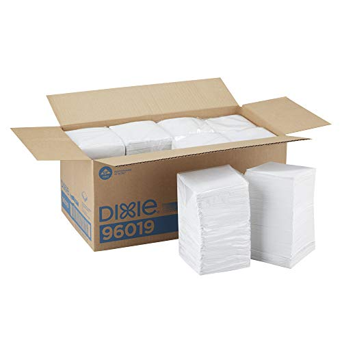 Dixie 1-Ply Beverage Napkin by GP PRO (Georgia-Pacific), White, 1/4 Fold, 96019, 500 Napkins Per Pack, 8 Packs Per Case