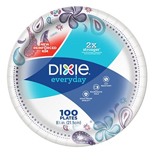 Dixie Everyday Paper Plates, 8.5 Inches (100 plates)