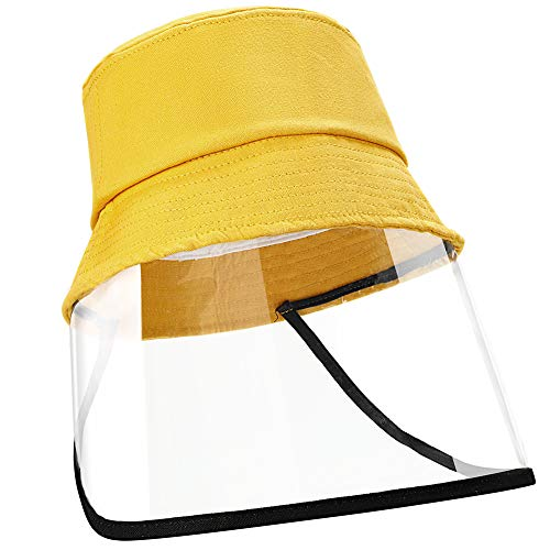 EXTSUD Dustproof Sunhat Cotton Packable Sun Hats Dust Proof Suitable for Kids 49-51cm Yellow
