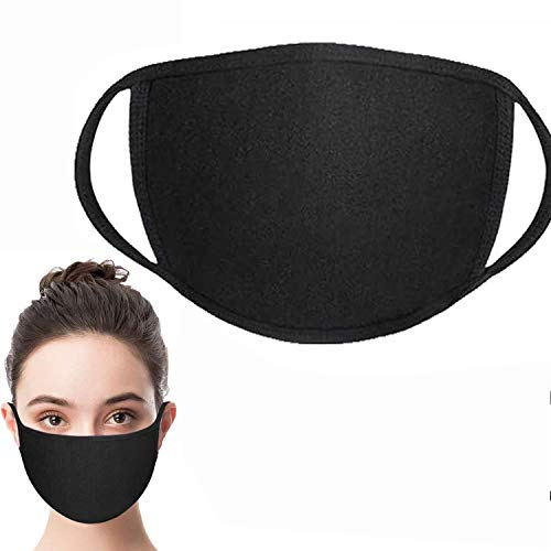 Face Shield ,face covering with Comfortable Earloop,Individually Wrapped,Black Cotton, Washable,Reusable Cloth