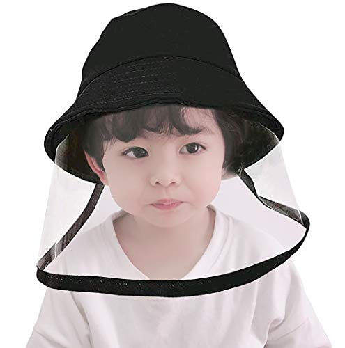 Jastore Kids Boys Girl Dustproof Sun Hat Cotton Packable Visor Hat Summer Anti UV Sun Hats (A-Black)
