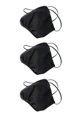 Los Angeles Apparel 3 PACK face mask mouth protective MADE IN USA [BLACK]