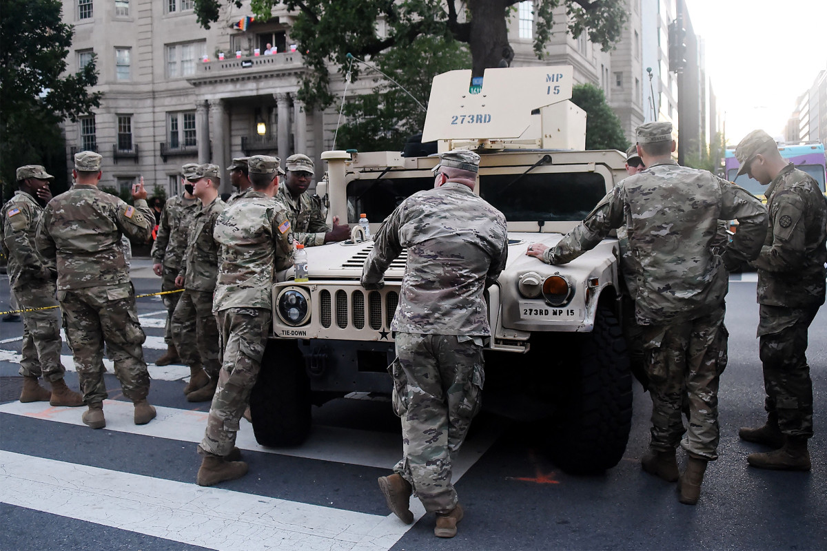 National Guard troops test positive for coronavirus amid warnings of protest spike 1