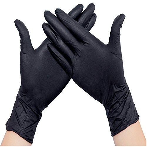 New Star Tattoo 10pcs Disposable Tattoo&Piercing Gloves Black Medium Nitrile Gloves